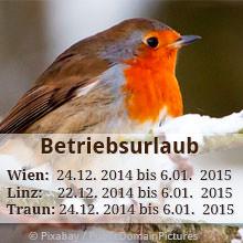 Betriebsurlaub Weihnachten 2014