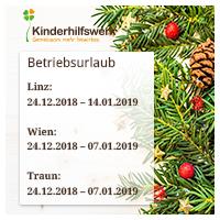 Betriebsurlaub Weihnachten 2018