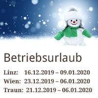 Betriebsurlaub Weihnachten 2019